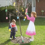 Decorating the Easter tree, 2010