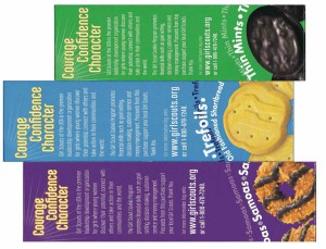 girl scout cookie box art