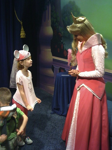 MaM was tickled pink to meet the princesses!