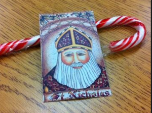 St. Nick and a candy cane