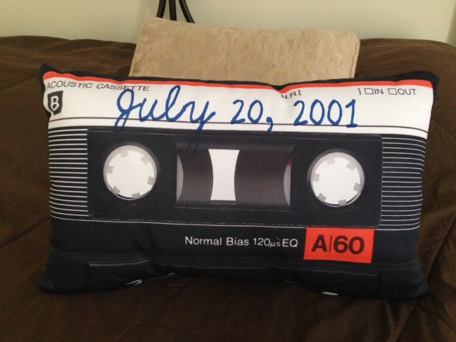 Uncommon Goods cassette pillow